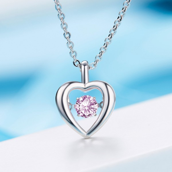 Silver Rhinestone Ladies' Fashion Necklace With Chain