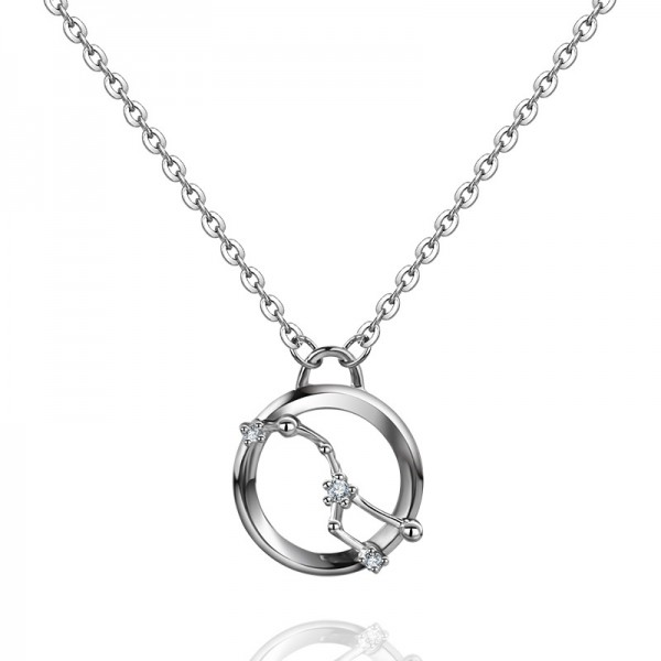 Lovely Silver Rhinestone Ladies' Necklace With Chain
