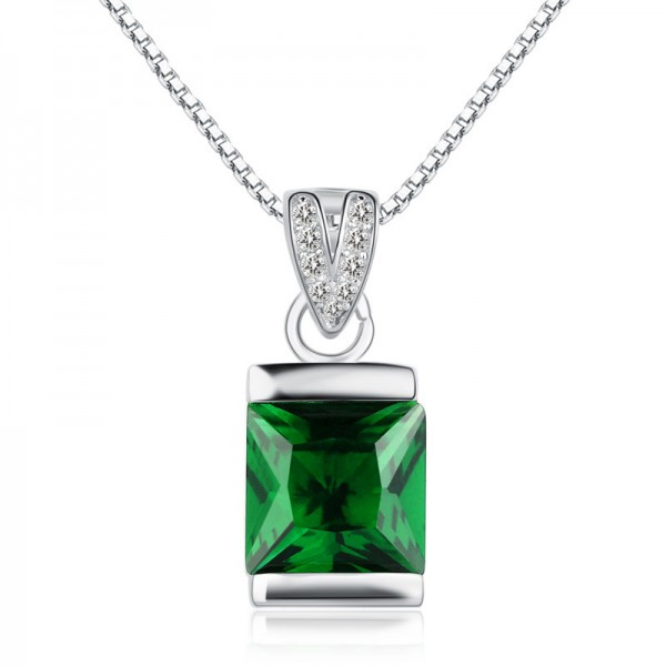 Silver 3A Zircon Ladies Necklace Vogue Pendant
