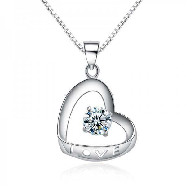 925 Silver 3A Zircon Vogue Ladies Necklace Pendant