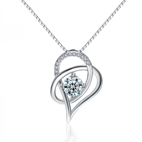 925 Silver 3A Zircon Designal Ladies Necklace Pendant