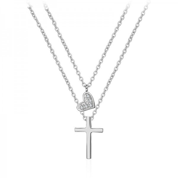925 Silver 3A Zircon Personality Design Ladies Necklace Pendant