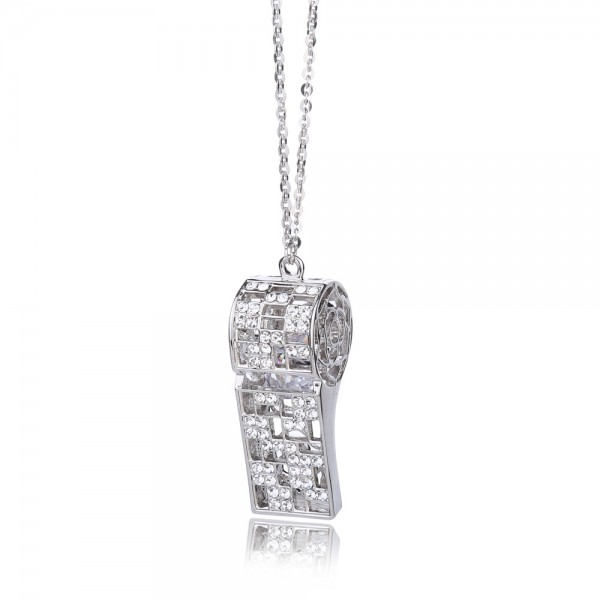 925 Silver 3A Zircon Ladies' Necklace With Chain Women Necklace
