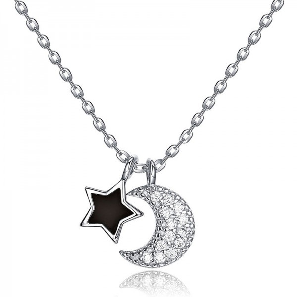 925 Silver 3A Zircon Ladies' Necklace With Chain Chic Women Necklace