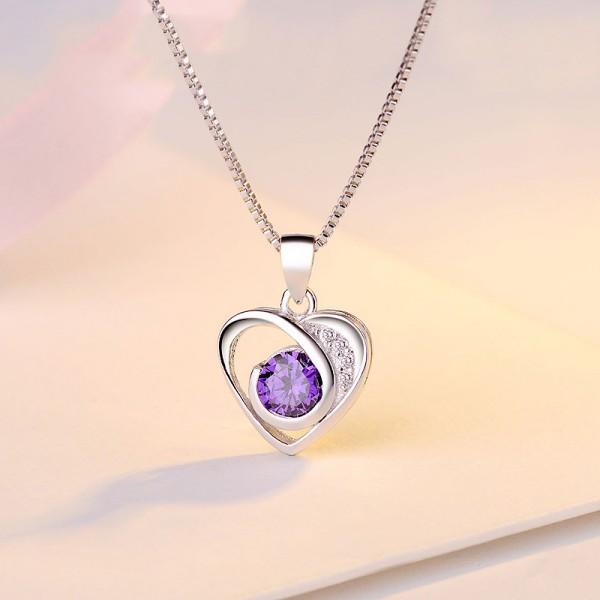 Women Silver Necklace 3A Zircon Ladies Necklace Pendant