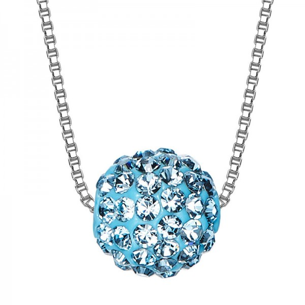 High-End S925 Sterling Silver Crystal Necklace