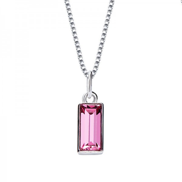 S925 Sterling Silver Simple Personality Girls Necklace