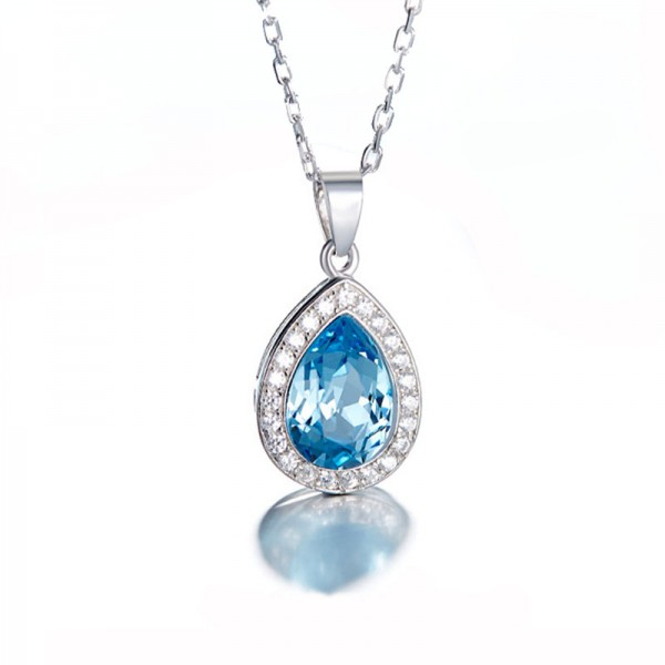 S925 Sterling Silver Necklace With Swarovski Crystal
