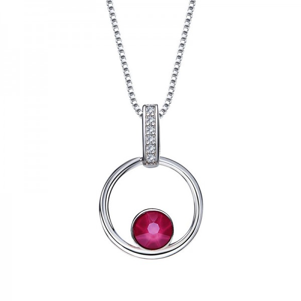 S925 Sterling Silver Simple Lady Necklace Pendant