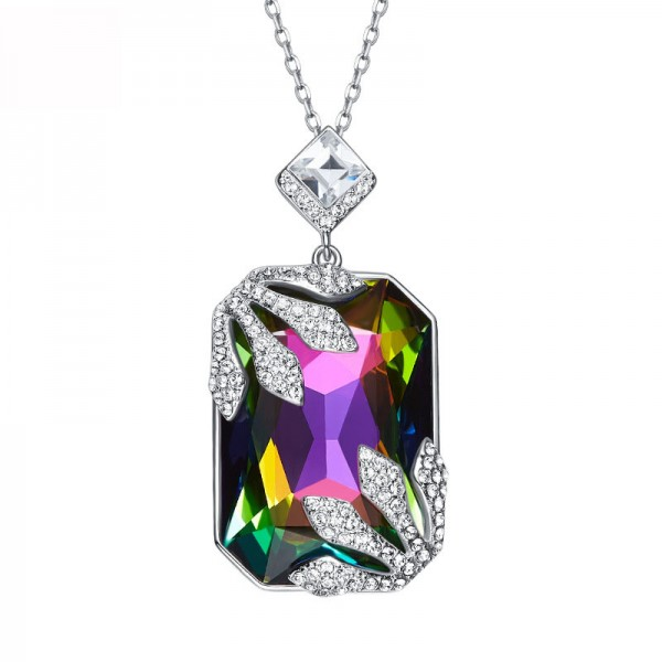 Elegant And Exquisite S925 Silver Crystal Necklace Pendant