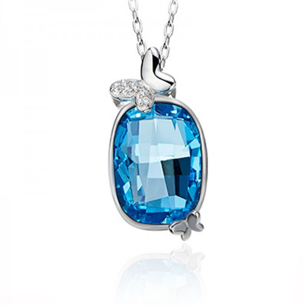 Crystal Necklace Female S925 Sterling Silver Pendant