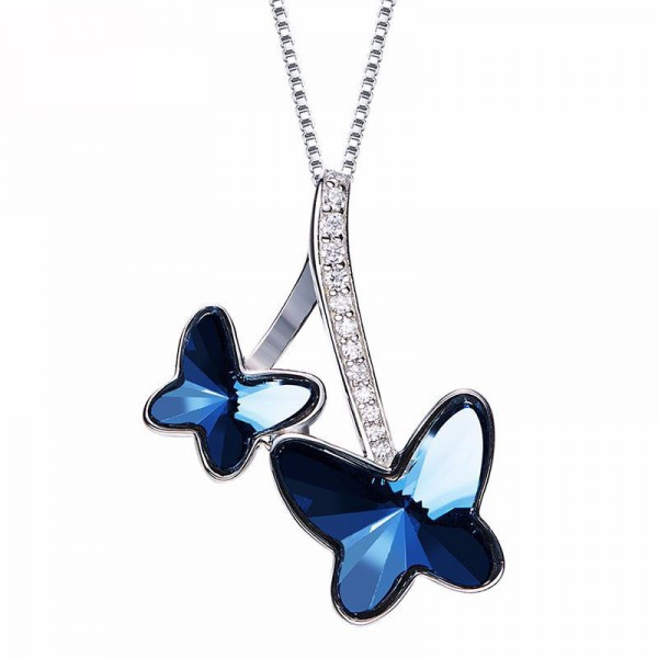 Butterfly Clavicle Chain S925 Sterling Silver Necklace