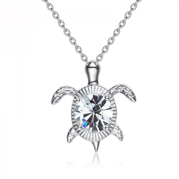 Cute Little Turtle S925 Sterling Silver Necklace