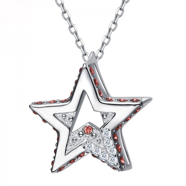 Simple S925 Sterling Silver Star Necklace
